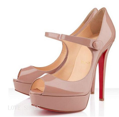 Cheap And Fashionable Christian Louboutin Bana 140mm Peep Toe Pumps Nude CKV Hot Sale At A Lower Price!
