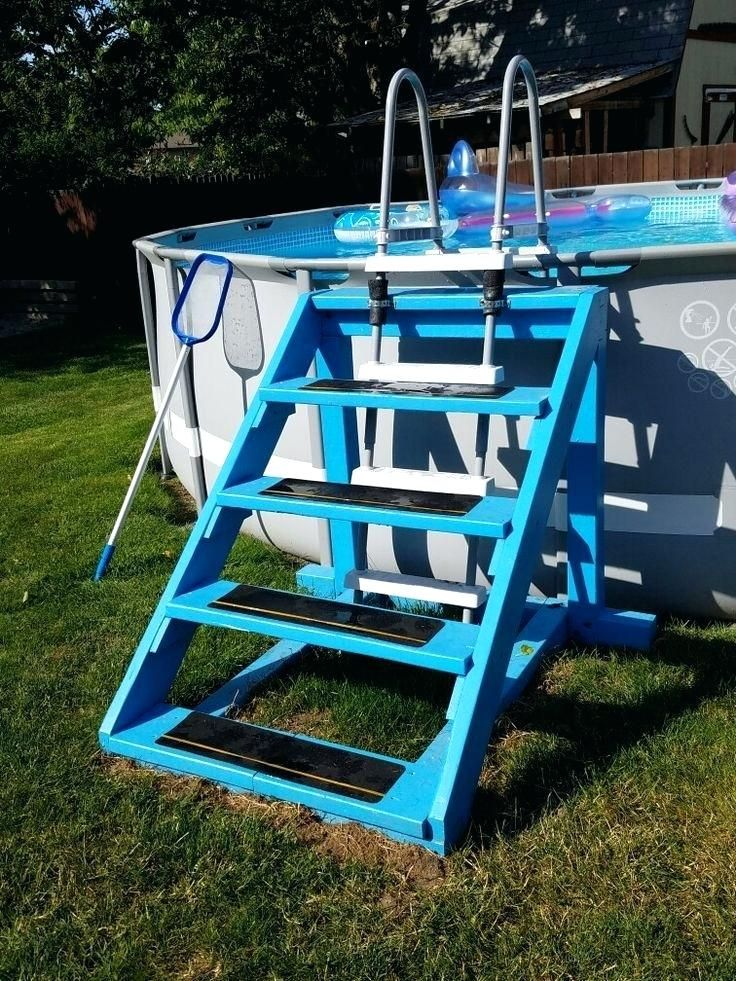 How To Build An Above Ground Pool Ladder Round Designs