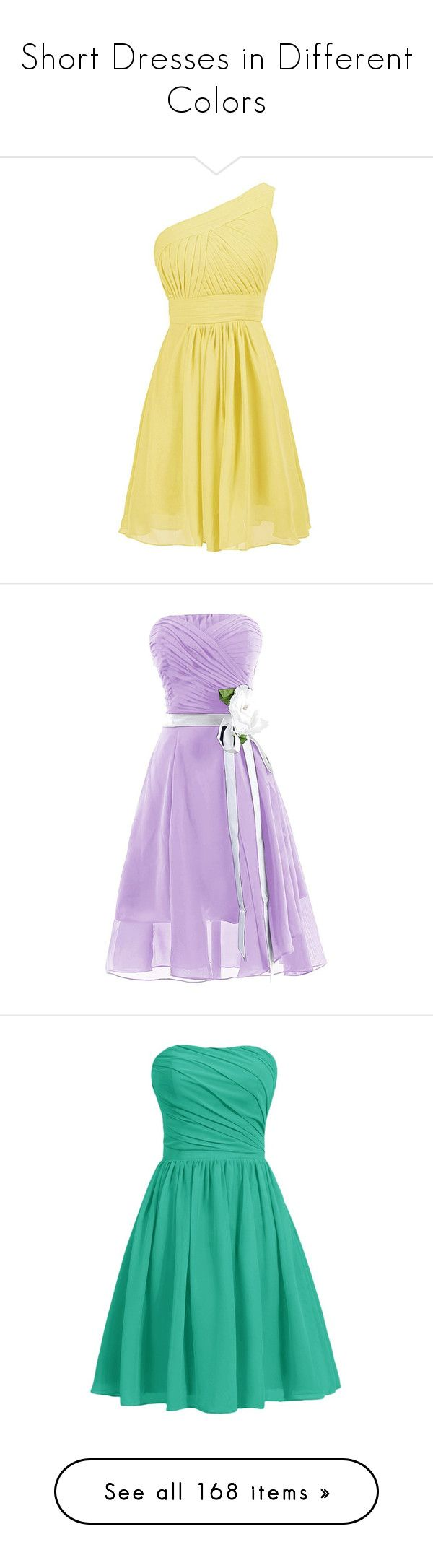 """""""Short Dresses in Different Colors"""" by marielw97 ❤ liked on Polyvore featuring dresses, lullabies, beige cocktail dress, chiffon bridesmaid dresses, bridesmaid cocktail dresses, beige bridesmaid dresses, beige dress, short dresses, homecoming dresses and purple prom dresses"""