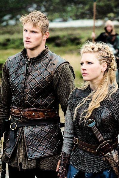 Bjorn and Lagertha, a mother and son who will both kick your ass. If you [like|love|adore} Lagertha Click below