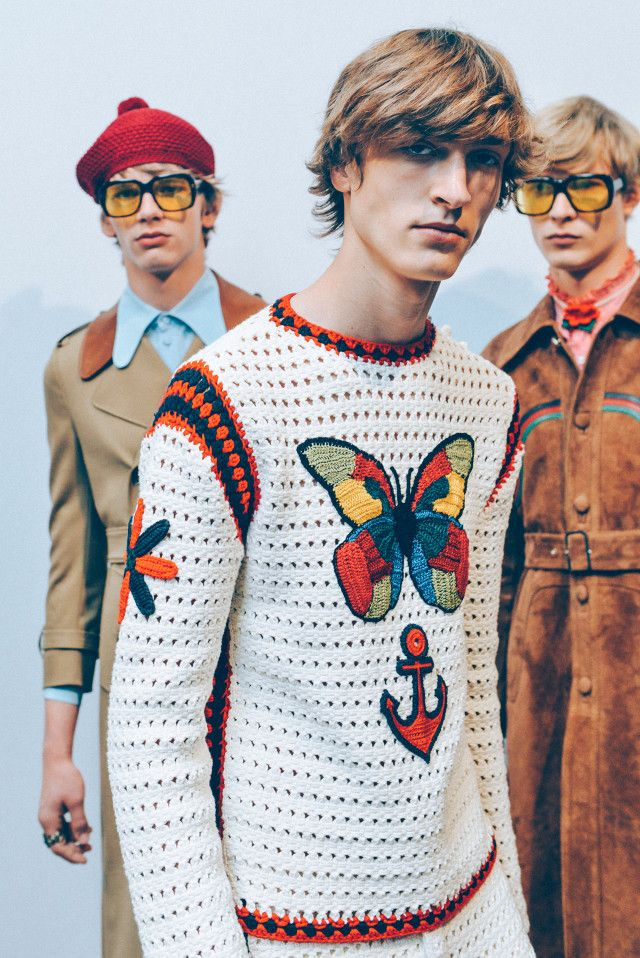 Tommy Ton - GUCCI MEN'S SPRING/SUMMER 2016 - looks like a band poster