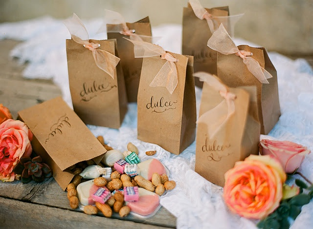 This is what my favors will look like, got the ribbon and bags and everything, will fill them with mini pan dulce and cookies