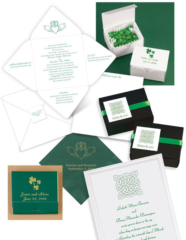 Celtic Wedding Invitations and Wedding Favors that Celebrate Your Heritage