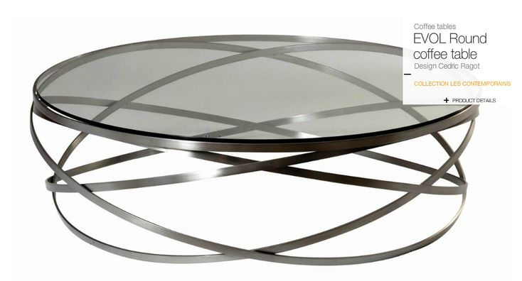 Roche bobois evol coffee table wrought iron structure for Table basse roche bobois