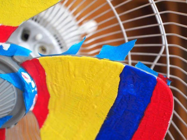 Paint a rainbow fan
