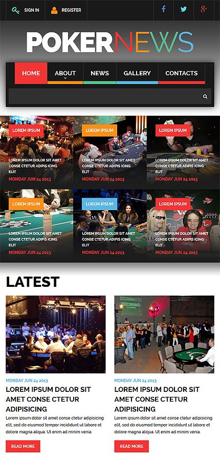 Online Casino website inspirations at your coffee break? Browse for more Bootstrap #templates! // Regular price: $75 // Sources available: .HTML,  .PSD #Online Casino #Bootstrap