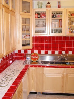 Coca Cola Kitchen Back Splash Remodel