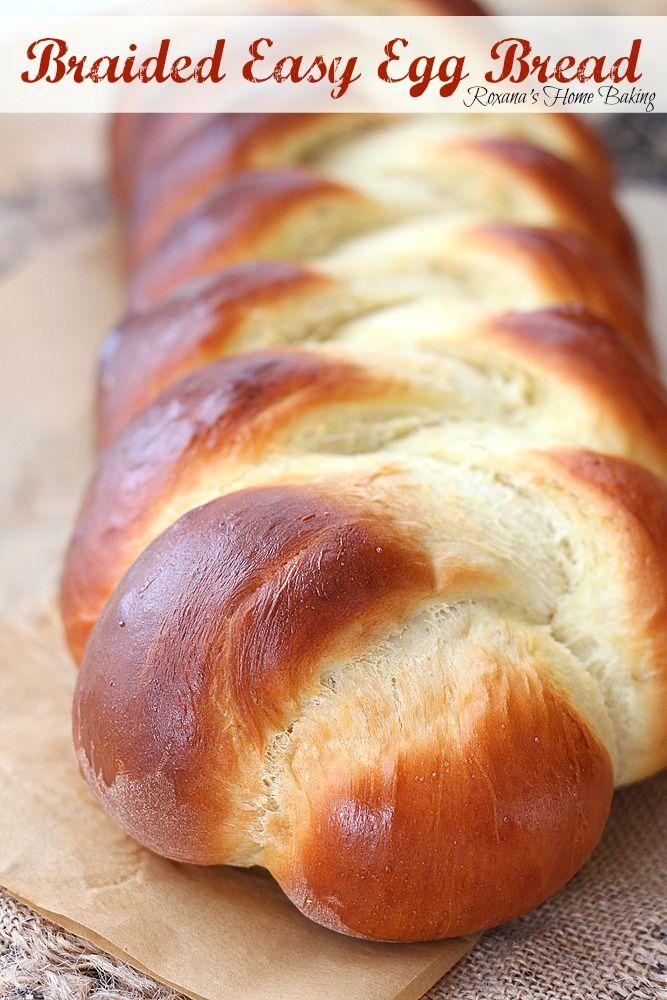 Braided easy egg bread from @RoxanaGreenGirl   Roxana's Home Baking