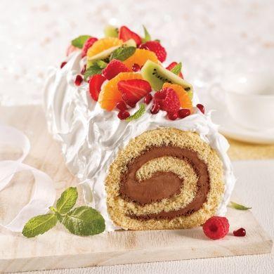 Bûche de Noël au tofu et aux fruits - Recettes - Cuisine et nutrition - Pratico Pratique