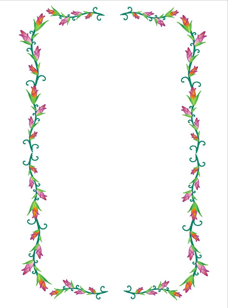 Flower and butterfly border clip art - photo#40