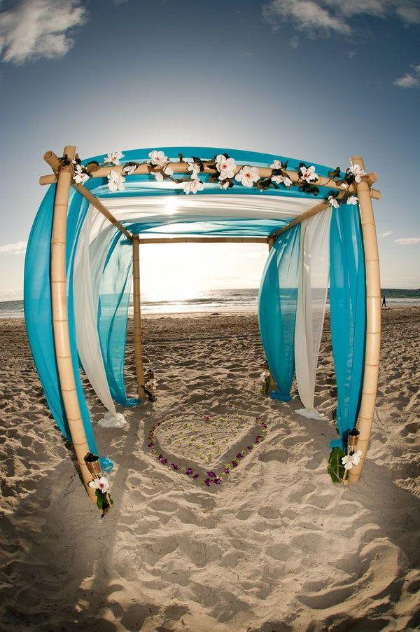 Bamboo Wedding Arch on Beach,