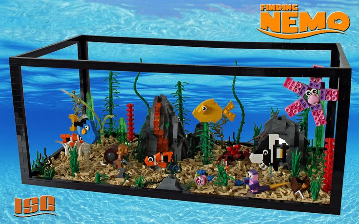Finding nemo gadgets and toys pinterest lego sweet for Nemo fish tank