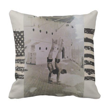 U.S. Navy Sailor Industrial Style Throw Pillow - #chic gifts diy elegant gift ideas personalize