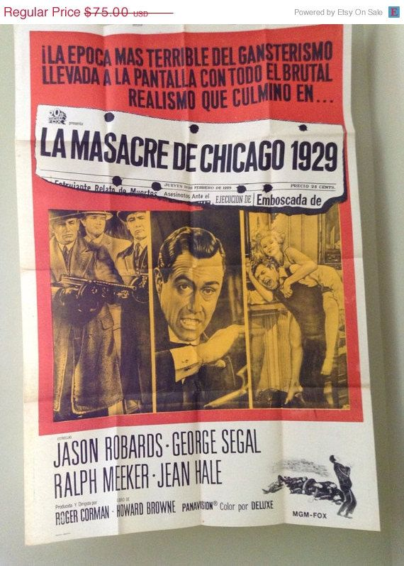 ON SALE Original Spanish Poster for Chicago St. by DeNuevoVintage, $63.75
