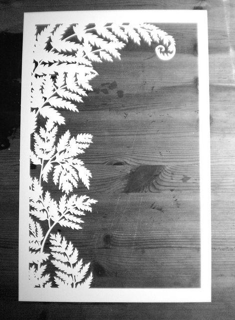 Fern ketubah papercut by woodland papercuts, via Flickr