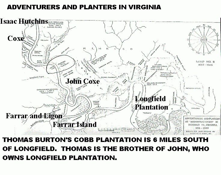 thomas burton u0026 39 s cobb plantation is 6 miles south of longfield  thomas is the brother of john