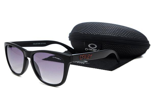 Oakley Frogskins Sunglasses Black Frame Purple Lens , cheap  $16 - www.hats-malls.com