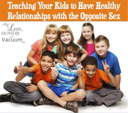 Teaching Kids to have Healthy Relationships with the Opposite Sex--so important to get this right early on!