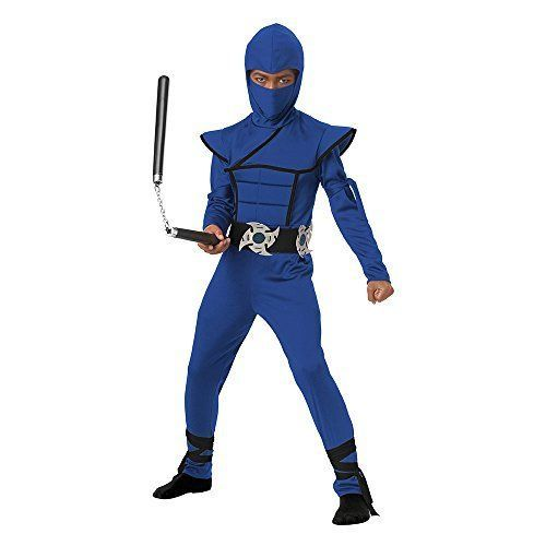 California Costumes Stealth Ninja Child Costume (Blue), Medium