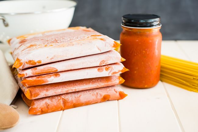 Follow this tutorial for making and freezing your own homemade tomato sauce, and enjoy the taste of summer tomatoes all winter long--no canning needed!