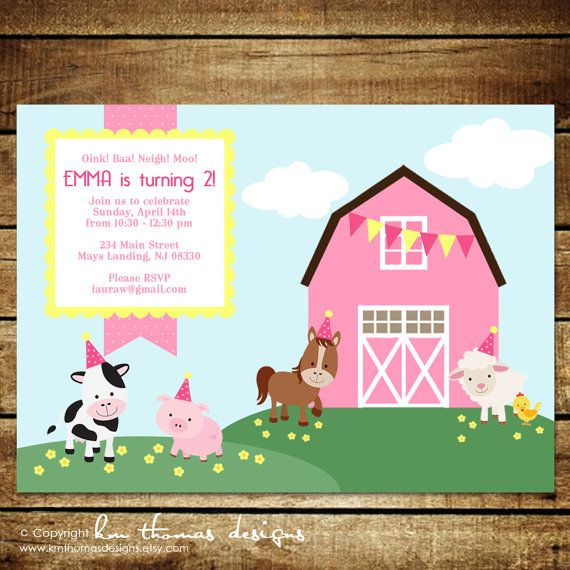 11 best lynnlees 1st birthday images on pinterest | farm birthday, Birthday invitations