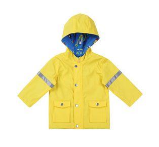 Marimekko yellow Josua 1 Raincoat for kids