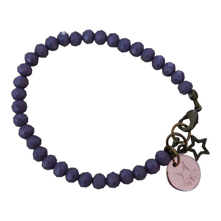Armband Brons - Facet Purple