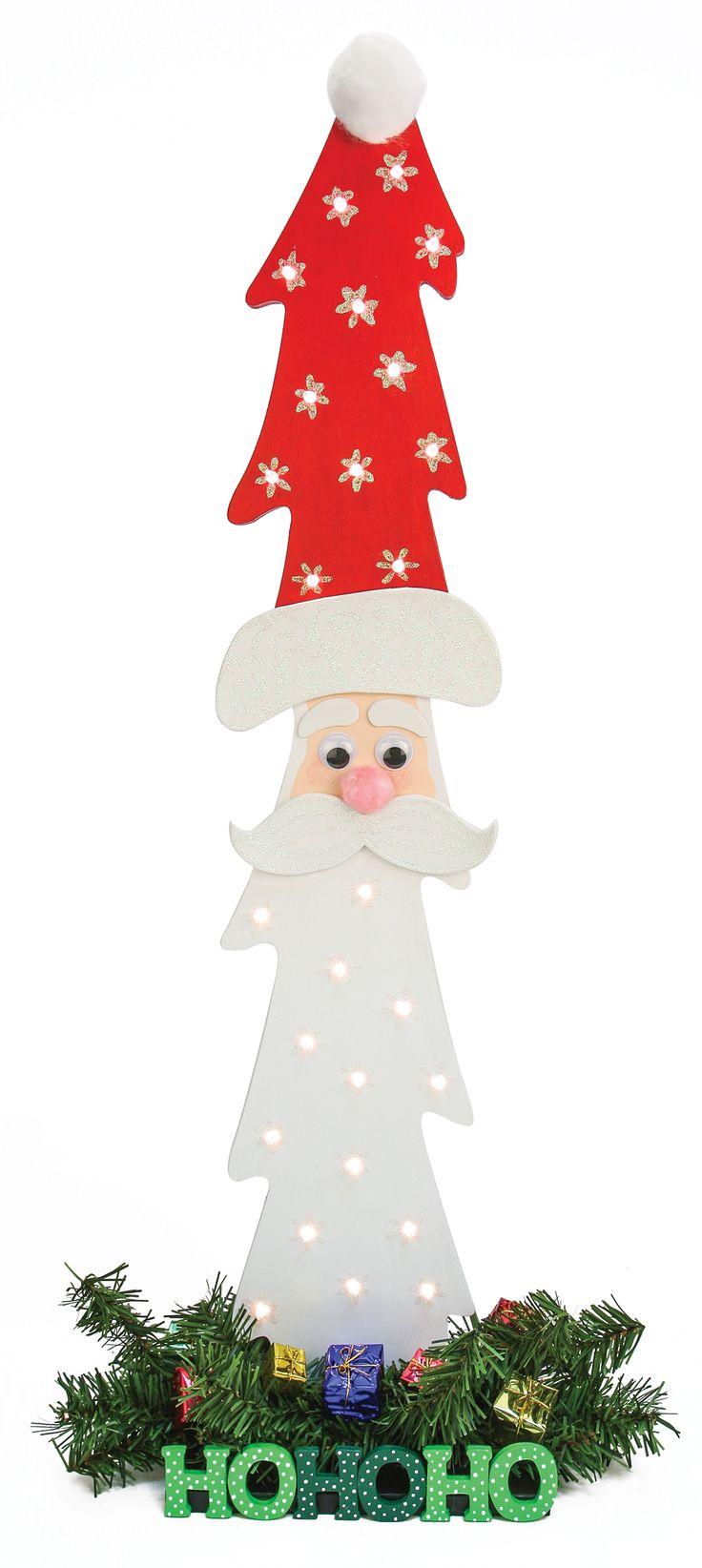 Nicole™ Crafts Wood Christmas Tree Santa #christmas #craft