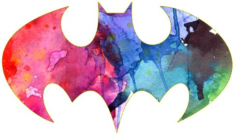 paint splatter batman symbol tattoo idea