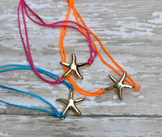 NEW Beachy Starfish Bracelets / Starfish Bracelet / Summer 2013 via Etsy