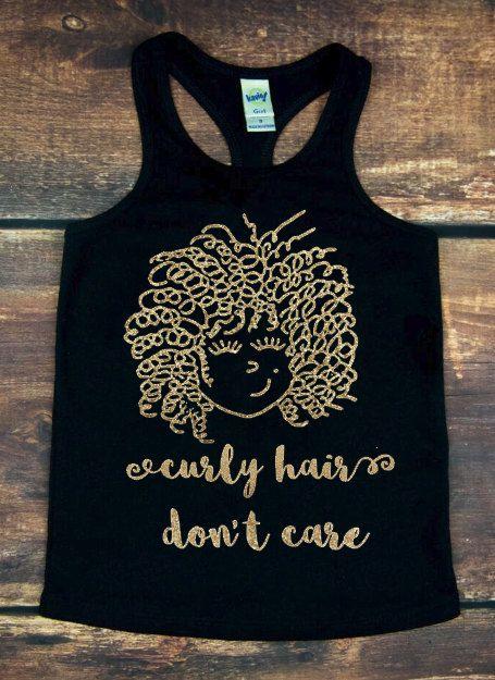 Curly Hair Don't Care, Trendy Kids Clothing, Girls Shirt, Kids Tops, Kids Shirts, Toddler Shirt, Graphic tee, Hipster, Shirt, Curly Hair