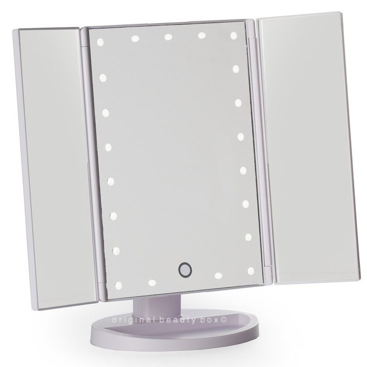 Images On White three way vanity mirror