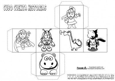 cubo para contar historias personajes 1. També tenen cubs en català a l'enllaç: http://www.orientacionandujar.es/2013/02/25/coleccion-de-dados-magicos-para-crear-cuentos-infantiles-cortos-en-euskera-y-catalan/