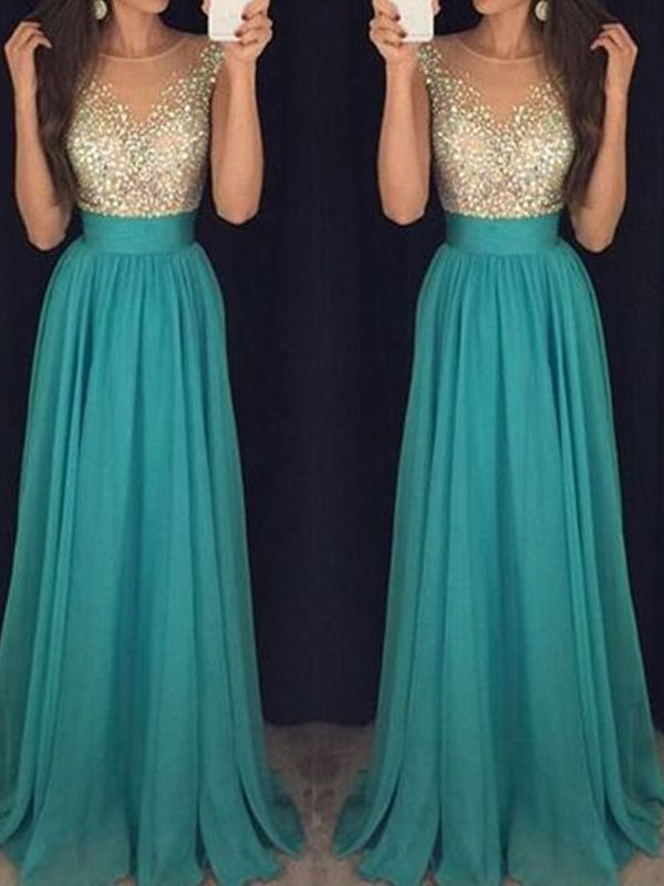 Prom Dress,Long Custom Prom Dress,Turquoise prom dress, See