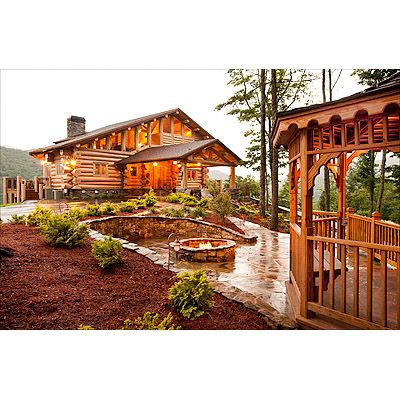 Falling Waters Lodge in North GA Mountains. They have a twig bridge crossing a stream and small waterfall to have the ceremony on :-)