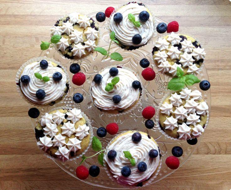 Sukkerfri blåbærmuffins