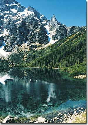 Morskie Oko - Polish moutains: I've been there! It takes about 3 hours between driving up the mountain & walking/taking a horse & buggie up there to see it. So worth it!!