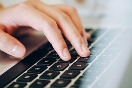ラップトップ, 人間の手, キーボード, 入力, 作業, ビジネス, オフィス