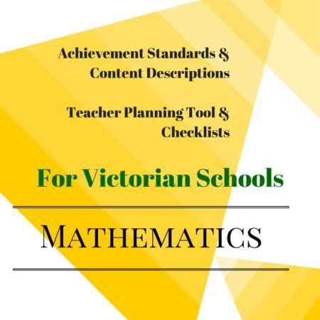 editable Checklists - Victorian Curriculum