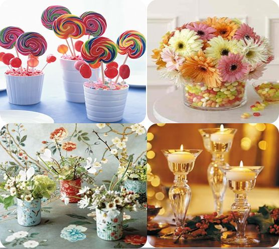 Best 25 homemade wedding centerpieces ideas on pinterest for Diy wedding table decorations