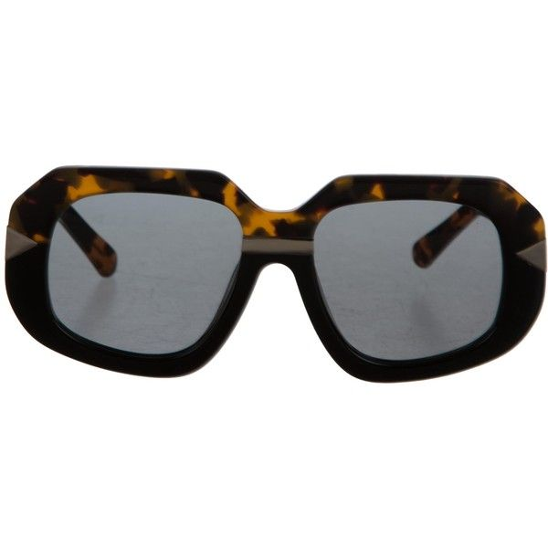 Pre-owned Karen Walker Hollywood Creeper Tinted Sunglasses (470 BRL) ❤ liked on Polyvore featuring accessories, eyewear, sunglasses, black, karen walker sunglasses, tortoise shell glasses, karen walker sunnies, karen walker eyewear and tortoise shell eyewear