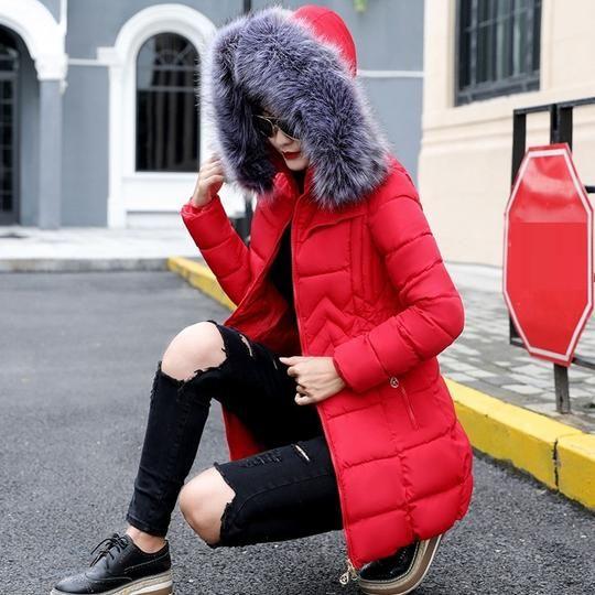 Winter Jacket Women Plus size 2018 New Fake Fox Fur Collar Womens Down jackets Thicker Hooded Winter Cotton Coat Female Parkas