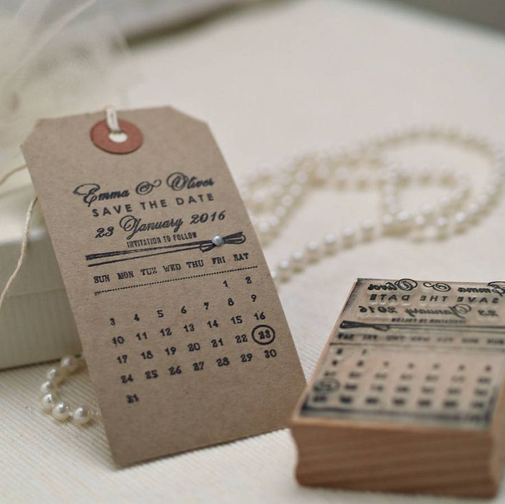 personalised calendar save the date stamp by pretty rubber stamps | notonthehighstreet.com