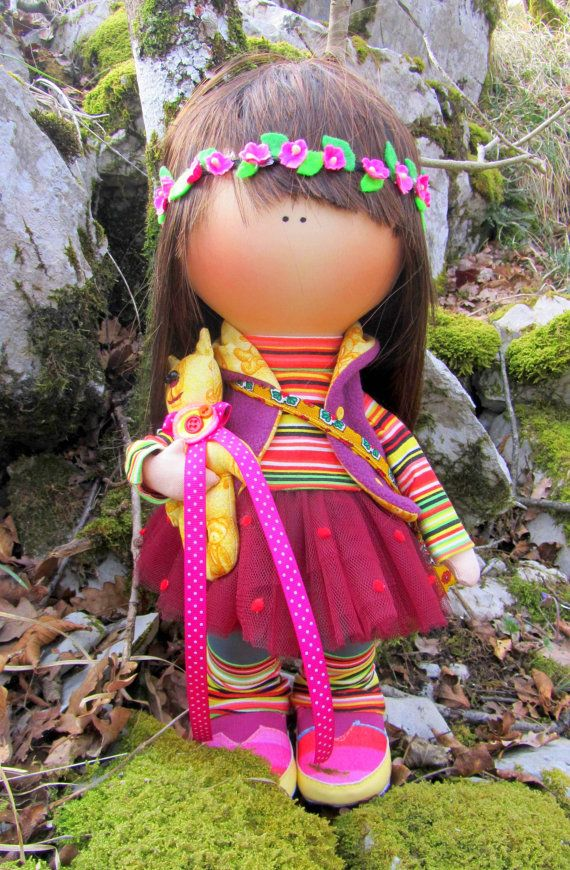 CLOTH DOLL handmade doll fabric doll от NICEDOLLSANDRABBITS
