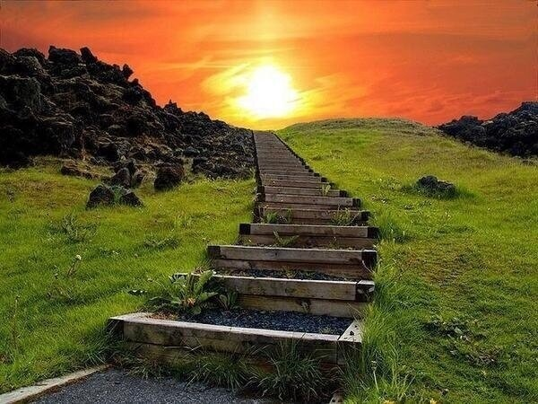 Stairway to Heaven, Iceland-wonder if this is real? Oh well, beautiful if it is:)
