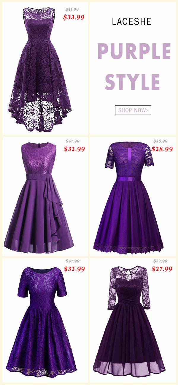 Purple Style Lace Dresses Pick Up These Chic Fantastic Lace