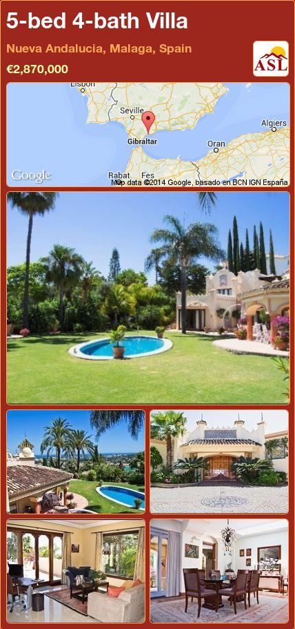 5-bed 4-bath Villa in Nueva Andalucia, Malaga, Spain ►€2,870,000 #PropertyForSaleInSpain