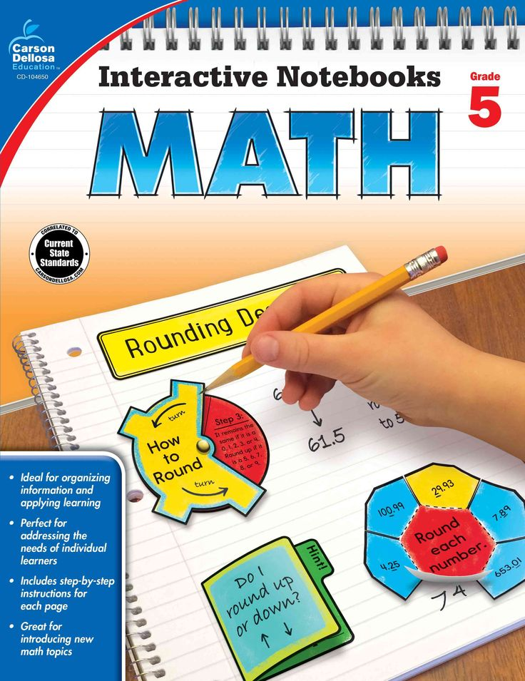 Time-Saving templates that allow students to show what they know!In Interactive Notebooks: Math for fifth grade, students will complete hands-on activities about expressions, patterns, decimals, fract