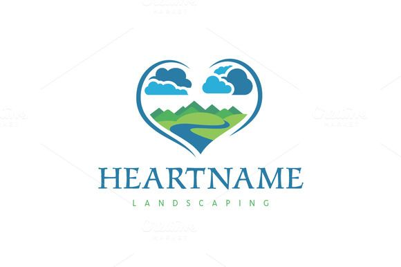 For sale. Only $29 - blue, green, memorable, natural, rustic, river, creek, steam, water, mountain, peak, hill, earth, sky, cloud, scenery, land, country, nature, wild, landscape, wilderness, heart, highlands, farm, resort, travel, environment, photographer, love, logo, design, template,