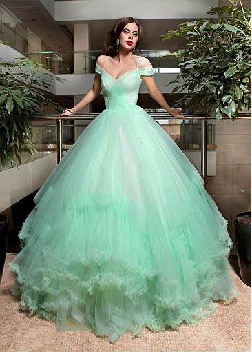 Marvelous Tulle Off The Shoulder Neckline Ball Gown